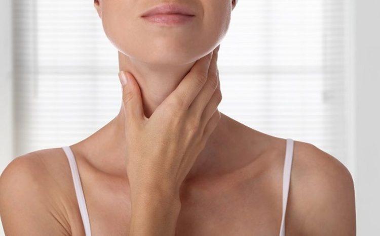 Woman thyroid gland control isolated