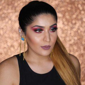 Shreya Jain with makeup