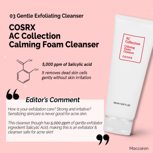 COSRX AC Collection Calming Foam Cleanser Ingredients